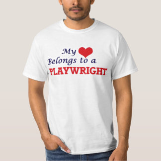 My heart belongs to a Playwright T-Shirt
