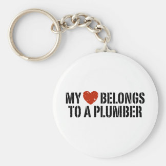 My Heart Belongs To A Plumber Keychain