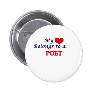 My heart belongs to a Poet 2 Inch Round Button