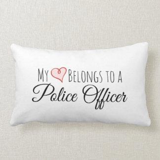 My Heart Belongs to a Police Officer Lumbar Pillow