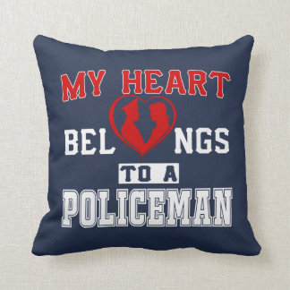My heart belongs to a Policeman Throw Pillow