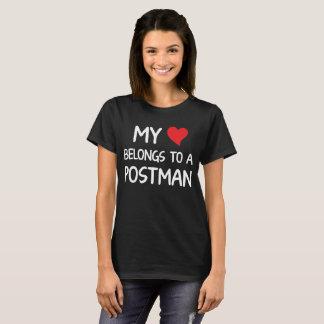 My Heart Belongs to a Postman Appreciation T-Shirt
