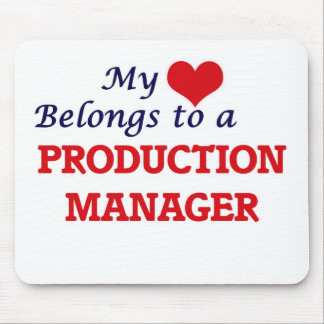 My heart belongs to a Production Manager Mouse Pad