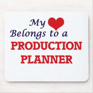 My heart belongs to a Production Planner Mouse Pad