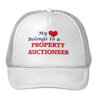My heart belongs to a Property Auctioneer Trucker Hat