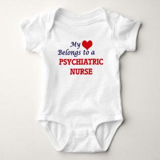 My heart belongs to a Psychiatric Nurse Baby Bodysuit