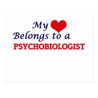 My heart belongs to a Psychobiologist Postcard