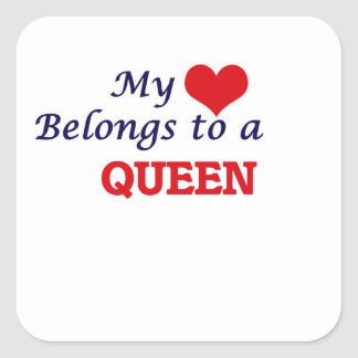 My heart belongs to a R & D Scientist Square Sticker