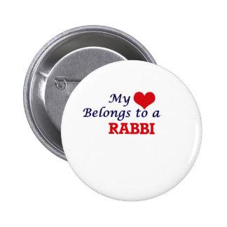 My heart belongs to a Rabbi 2 Inch Round Button
