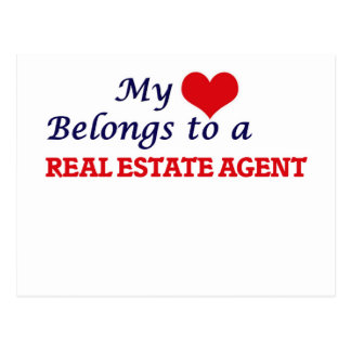 My heart belongs to a Real Estate Agent Postcard