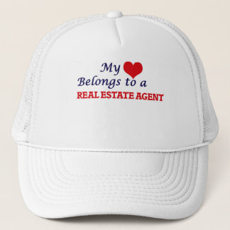 My heart belongs to a Real Estate Agent Trucker Hat