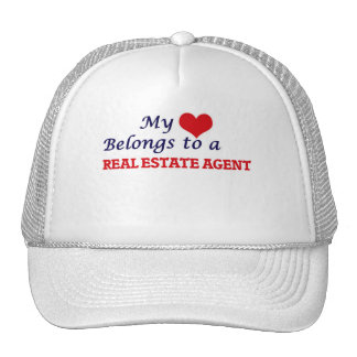 My heart belongs to a Real Estate Agent Trucker Hat