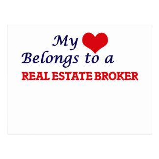 My heart belongs to a Real Estate Broker Postcard