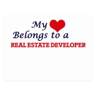 My heart belongs to a Real Estate Developer Postcard