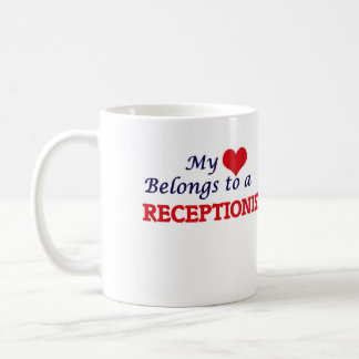 My heart belongs to a Receptionist Coffee Mug