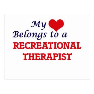 My heart belongs to a Recreational Therapist Postcard