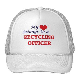 My heart belongs to a Recycling Officer Trucker Hat