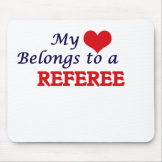 My heart belongs to a Referee Mouse Pad