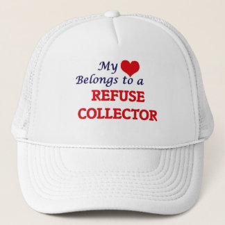 My heart belongs to a Refuse Collector Trucker Hat