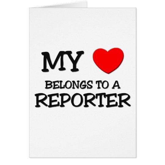 My Heart Belongs To A REPORTER Card