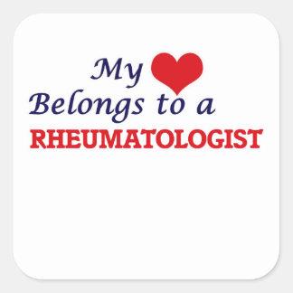 My heart belongs to a Rheumatologist Square Sticker