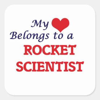 My heart belongs to a Rocket Scientist Square Sticker