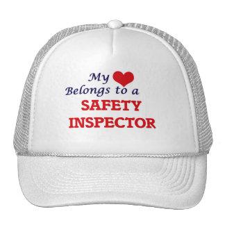 My heart belongs to a Safety Inspector Trucker Hat