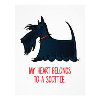 My Heart Belongs to a Scottie. Letterhead Design