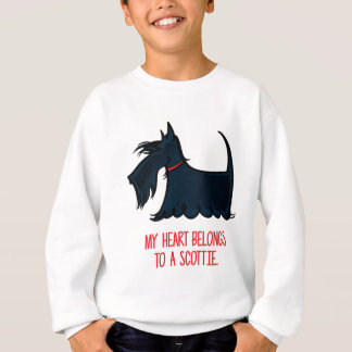My Heart Belongs to a Scottie. Sweatshirt