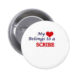 My heart belongs to a Scribe 2 Inch Round Button