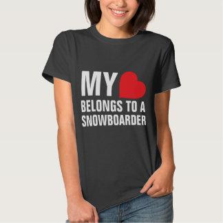 My heart belongs to a Snowboarder T Shirt