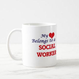 My heart belongs to a Social Worker Coffee Mug
