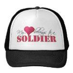 My Heart Belongs to A Soldier Hats