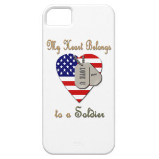 My Heart Belongs to A Soldier iPhone 5 Covers
