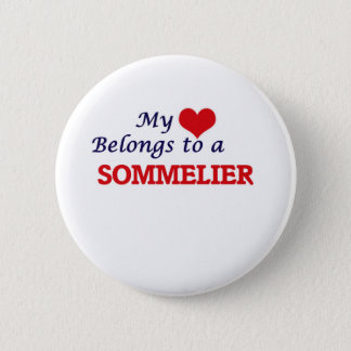 My heart belongs to a Sommelier 2 Inch Round Button