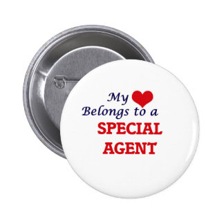 My heart belongs to a Special Agent 2 Inch Round Button