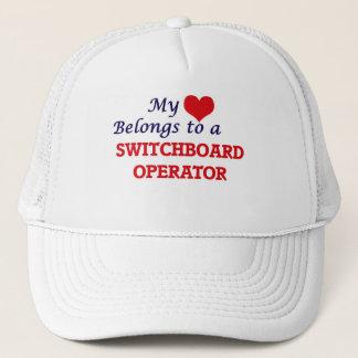 My heart belongs to a Switchboard Operator Trucker Hat