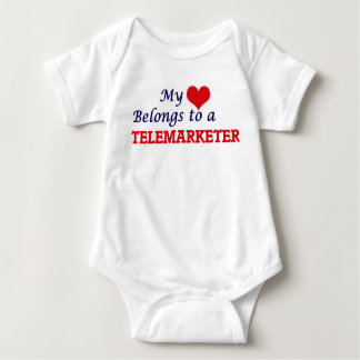My heart belongs to a Telemarketer Baby Bodysuit