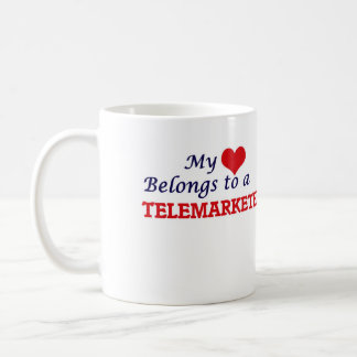 My heart belongs to a Telemarketer Coffee Mug