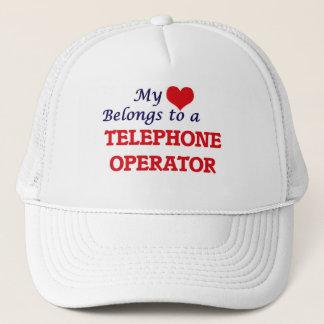 My heart belongs to a Telephone Operator Trucker Hat