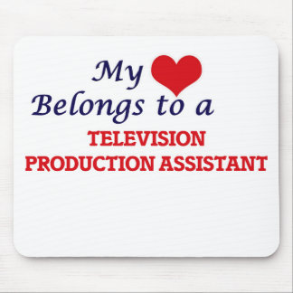 My heart belongs to a Television Production Assist Mouse Pad