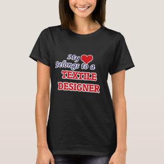 My heart belongs to a Textile Designer T-Shirt