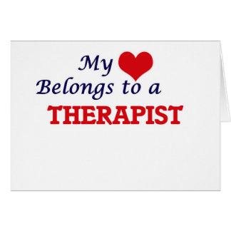 My heart belongs to a Therapist Card