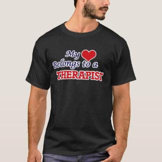 My heart belongs to a Therapist T-Shirt
