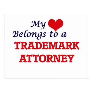 My heart belongs to a Trademark Attorney Postcard