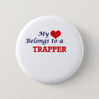 My heart belongs to a Trapper 2 Inch Round Button