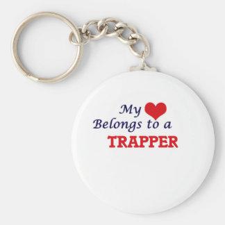 My heart belongs to a Trapper Keychain