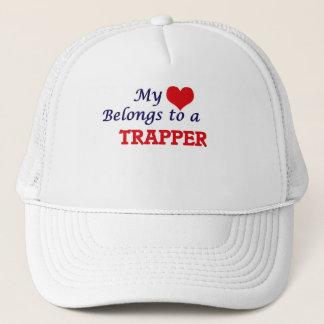 My heart belongs to a Trapper Trucker Hat