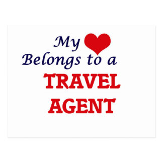 My heart belongs to a Travel Agent Postcard