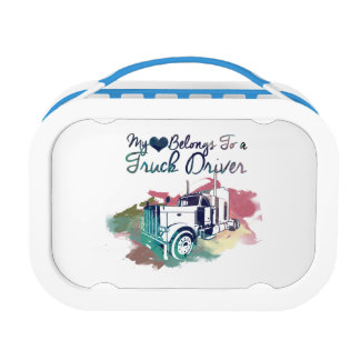 My Heart Belongs To a Truck Driver Lunch Box